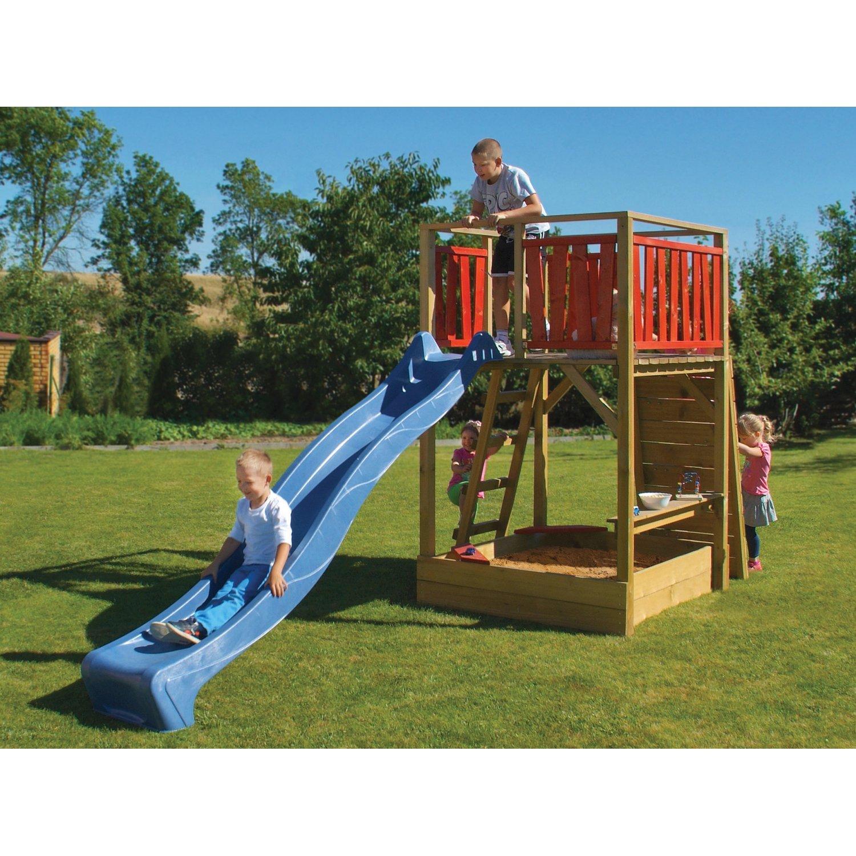 Full Size of Spielturm Bauhaus Fun Kesseldruckimprgniert Grn 220 Cm 160 430 Fenster Kinderspielturm Garten Wohnzimmer Spielturm Bauhaus