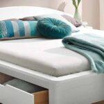 Bauernbett 90x200 Wohnzimmer Bauernbett 90x200 Weißes Bett Mit Bettkasten Kiefer Lattenrost Schubladen Weiß Und Matratze Betten
