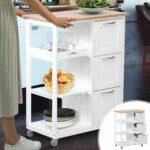 Küchenwagen Servierwagen Wohnzimmer Küchenwagen Servierwagen Kchenwagen Holz Rollwagen Küche Garten