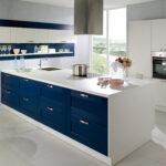 Hängeregal Kücheninsel Wohnzimmer Landhaus Einbaukche Classica 0100 Weiss 6610 Samtblau Kchenquelle Hängeregal Küche