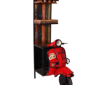 Roller Miniküche Wohnzimmer Shabby Design Barschrank Roller Style Aus Altholz Altmetall Pietra Stengel Miniküche Regale Ikea Mit Kühlschrank