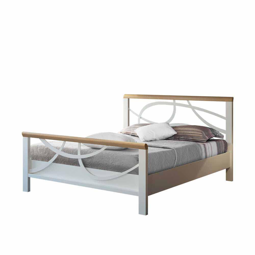 Full Size of Metallbett 100x200 Design Lumbarda In Wei Mit Eiche Massivholz Bett Betten Weiß Wohnzimmer Metallbett 100x200