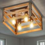 Holz Deckenleuchte Lampe Selbst Bauen Rustikal Deckenleuchten Wohnzimmer Linus Modern Lampenwelt Esstisch Selber Led Rund Machen 2 Ring Led Deckenleuchte Eiche Wohnzimmer Holz Deckenleuchte