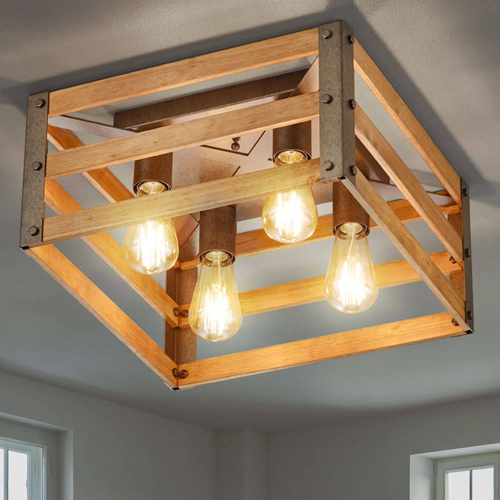 Full Size of Holz Deckenleuchte Lampe Selbst Bauen Rustikal Deckenleuchten Wohnzimmer Linus Modern Lampenwelt Esstisch Selber Led Rund Machen 2 Ring Led Deckenleuchte Eiche Wohnzimmer Holz Deckenleuchte