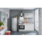 Mini Kche Wei Beton Optik 160 Cm Online Bei Roller Kaufen Küchen Regal Regale Wohnzimmer Küchen Roller