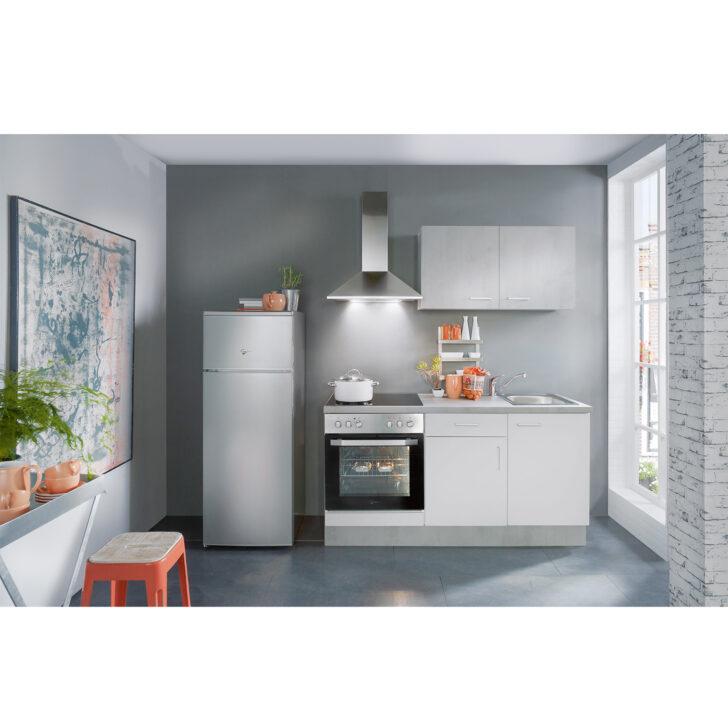 Medium Size of Mini Kche Wei Beton Optik 160 Cm Online Bei Roller Kaufen Küchen Regal Regale Wohnzimmer Küchen Roller