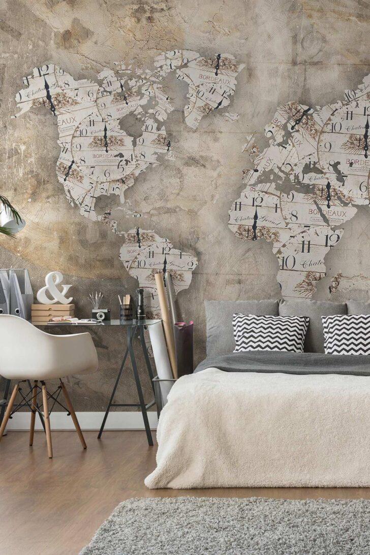 Medium Size of Schlafzimmer Tapeten 2020 Tapete Betonoptik Shabby Uhren Weltkarte Vlies Fototapete Deckenlampe Günstige Luxus Massivholz Komplett Günstig Truhe Schimmel Im Wohnzimmer Schlafzimmer Tapeten 2020