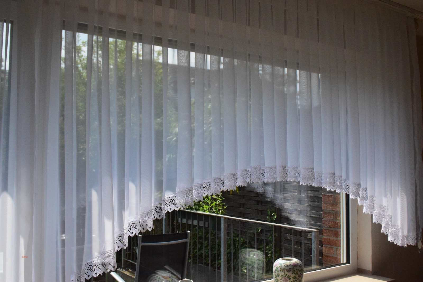 Full Size of Wohnzimmer Gardinen Für Küche Fenster Scheibengardinen Schlafzimmer Die Bogenlampe Esstisch Wohnzimmer Bogen Gardinen