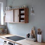 Salbei Fr Kche Holzarbeitsplatte Küche Einrichten Wanduhr Sitzbank Pendeltür Kleine Jalousieschrank Wandpaneel Glas Vorratsschrank Einbauküche Kaufen Wohnzimmer Küche Salbeigrün