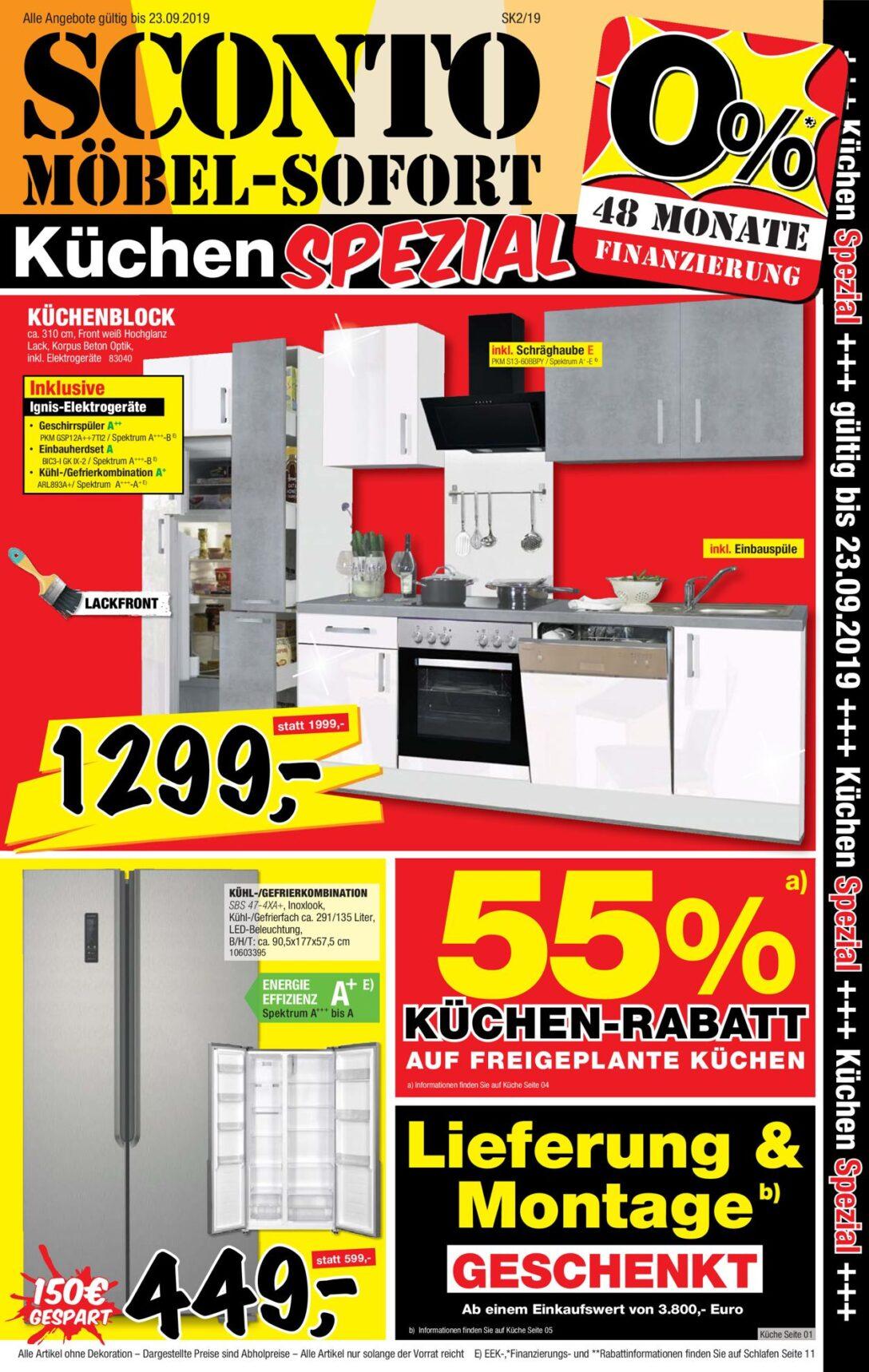 Large Size of Sconto Küchen Aktueller Prospekt 0309 23092019 20 Jedewoche Regal Wohnzimmer Sconto Küchen