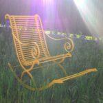 Garten Schaukelstuhl Metall Lounge Möbel Pavillon Trampolin Sonnenschutz Spielgeräte Für Den Holzhäuser Gartenüberdachung Mini Pool Fußballtor Wohnzimmer Garten Schaukelstuhl Metall