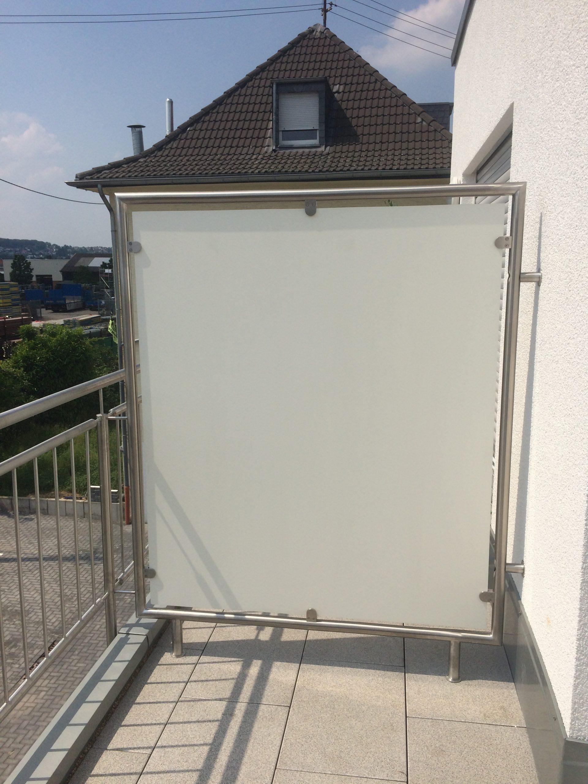 Full Size of Trennwand Balkon Edelstahlgelnder Va Prinz Metallbau Gmbh Garten Glastrennwand Dusche Wohnzimmer Trennwand Balkon
