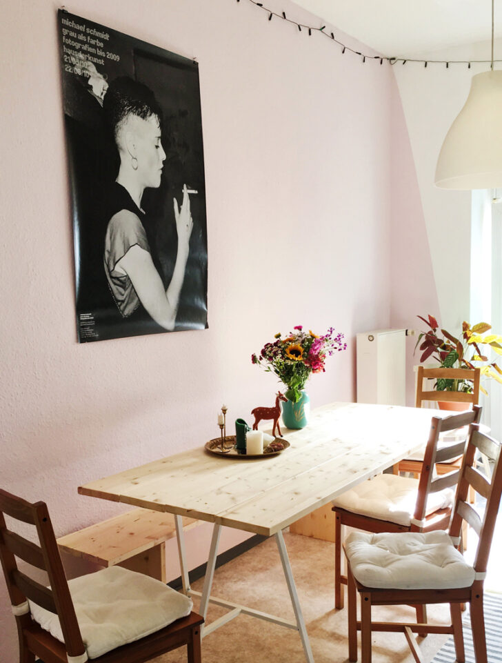 Medium Size of Ambiente Blog Mut Zur Farbe Küche Rosa Wohnzimmer Wandfarbe Rosa