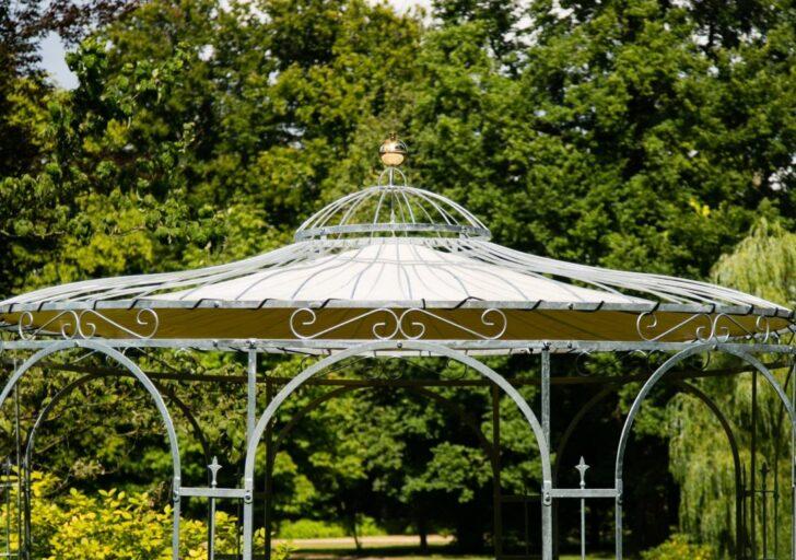 Medium Size of Pavillon Rund Garten Holz Metall 4 M 3 5m Durchmesser Ersatzdach Regal Runder Esstisch Kuba Rundreise Und Baden Regale Esstische Sri Lanka Marokko Weiß Wohnzimmer Pavillon Metall Rund