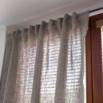 Leinen Vorhang Blickdicht Natur Braun Scheibengardinen Küche Wohnzimmer Scheibengardinen Blickdicht