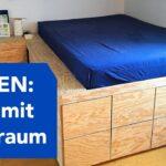 Podestbett Ikea Bauen Podest Bett Mit Viel Stauraum Youtube Küche Kosten Kaufen Betten 160x200 Miniküche Bei Sofa Schlaffunktion Modulküche Wohnzimmer Podestbett Ikea