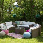 Runde Rattan Gartenmbel Lounge Rattanlounge Garten Tisch Bank Wohnzimmer Couch Terrasse