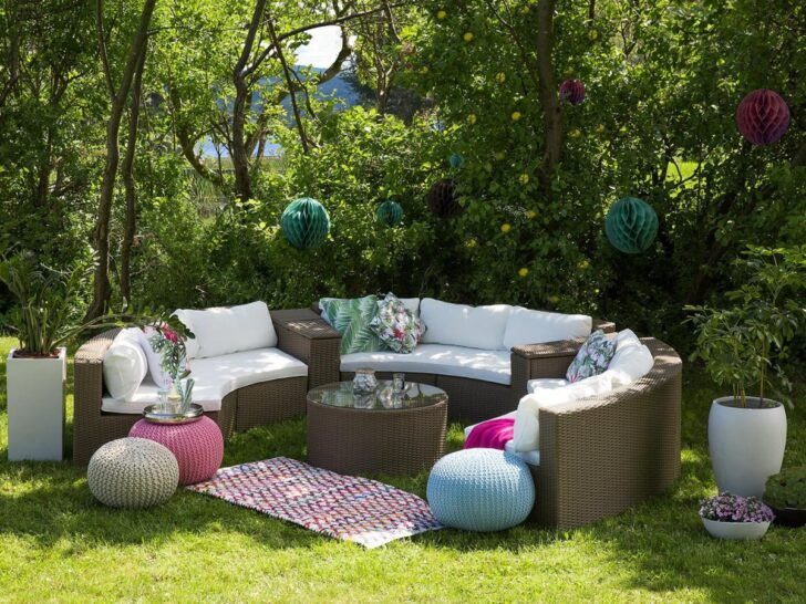 Medium Size of Runde Rattan Gartenmbel Lounge Rattanlounge Garten Tisch Bank Wohnzimmer Couch Terrasse