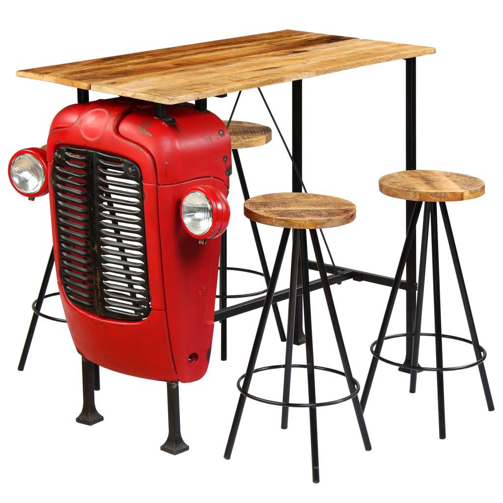Full Size of Bar Set 5 Tlg Massivholz Traktor Stil Bartisch Esszimmer Schlafzimmer Günstig Esstisch Lounge Garten Küche Dusche Komplett Mit Matratze Und Lattenrost Wohnzimmer Bartisch Set
