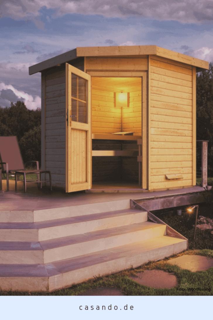 Medium Size of Gartensauna Bausatz Woodfeeling Sauna Haus Hilda Eckeinstieg 38 Mm Wohnzimmer Gartensauna Bausatz