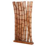 Abtrennwand Garten Trennwand Holz Bambus Paravent Espacio Ca H190cm Natural Raumtrenner Spanische Stapelstühle Loungemöbel Schaukelstuhl Fußballtore Tisch Wohnzimmer Abtrennwand Garten