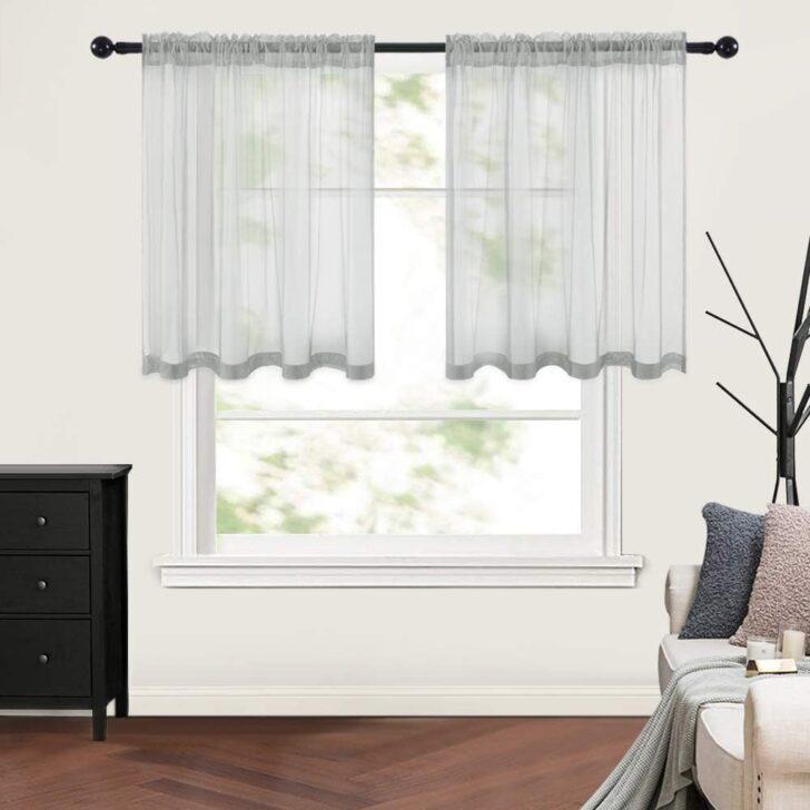 Medium Size of Amazonde Miulee 2er Set Kchenvorhang Transparente Wohnzimmer Küchenvorhang