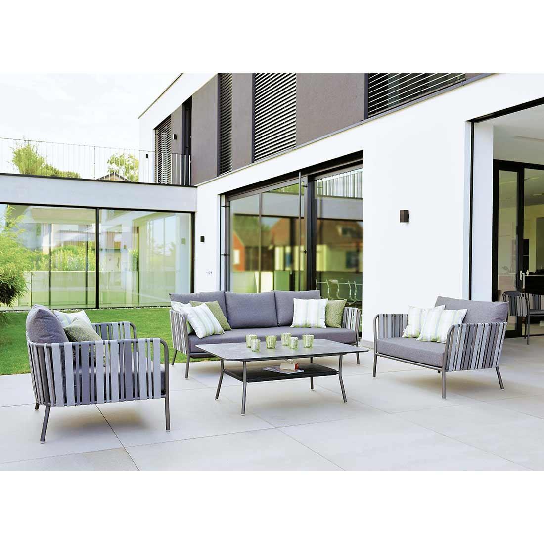 Full Size of Loungemöbel Alu Stern Space Sofagruppe 4 Teilig Aluminium Gurtbespannung Garten Fenster Holz Aluplast Preise Günstig Verbundplatte Küche Wohnzimmer Loungemöbel Alu
