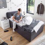Bett 120x200 Mit Bettkasten Betten Matratze Und Lattenrost Weiß Wohnzimmer Stauraumbett Funktionsbett 120x200