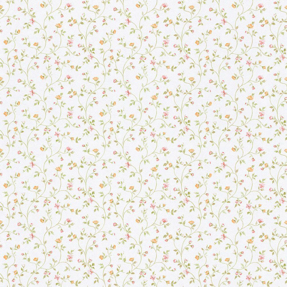 Full Size of Küchentapete Landhaus Rasch Tapete Fleur Iii 294735 Blmchen Bltter Wei Bunt Regal Weiß Küche Esstisch Weisse Landhausküche Betten Landhausstil Bett Wohnzimmer Küchentapete Landhaus