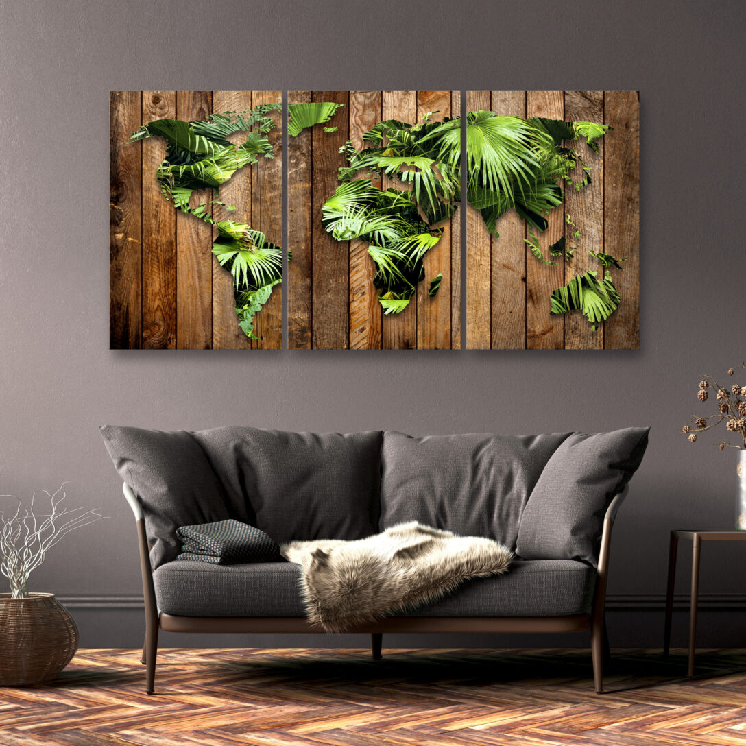 Large Size of Weltkarte Pflanzen Leinwand Bilder Wandbilder Xxl Wandbild Liege Wohnzimmer Led Beleuchtung Deckenleuchten Deckenleuchte Gardinen Schrankwand Kommode Tapeten Wohnzimmer Wohnzimmer Wandbild