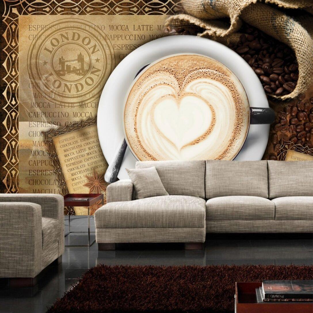 Large Size of Fototapete No 2150 Vliestapete Kaffee Tapete Cappuccino Pentryküche Fliesen Für Küche Ebay Auf Raten Einhebelmischer Hängeschrank Höhe Erweitern Hochglanz Wohnzimmer Tapete Küche Kaffee