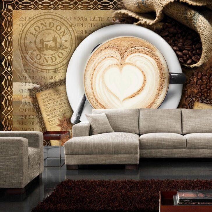 Medium Size of Fototapete No 2150 Vliestapete Kaffee Tapete Cappuccino Pentryküche Fliesen Für Küche Ebay Auf Raten Einhebelmischer Hängeschrank Höhe Erweitern Hochglanz Wohnzimmer Tapete Küche Kaffee
