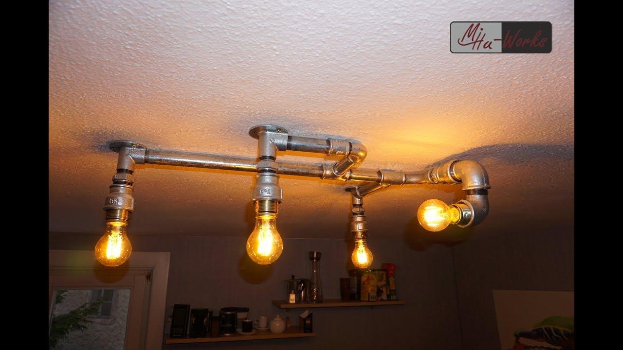 Full Size of Deckenlampe Industrial Diy Design Aus Rohren Lighting Esstisch Deckenlampen Wohnzimmer Schlafzimmer Bad Küche Für Modern Wohnzimmer Deckenlampe Industrial