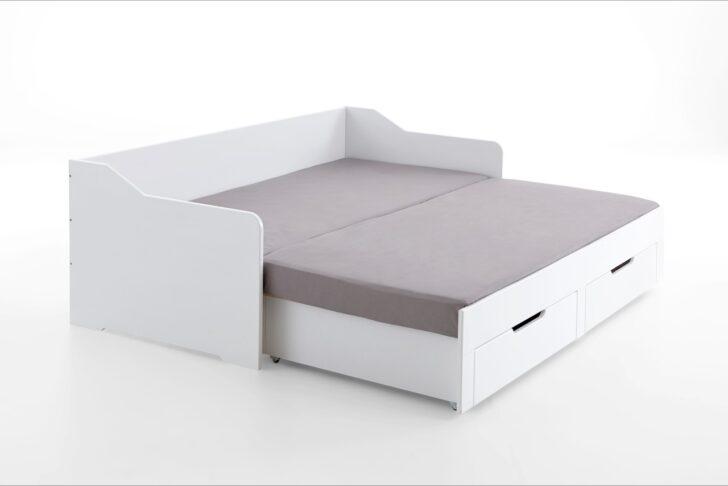 Medium Size of Ausziehbares Doppelbett Ausziehbare Doppelbettcouch Ikea Kojenbett Wei Mit Schubksten 90x200 Auf 180x200 Cm Bett Wohnzimmer Ausziehbares Doppelbett
