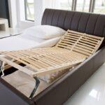 Klappbares Doppelbett Wohnzimmer Klappbares Doppelbett Polsterbett Luanos 180x200 Braun Kunstleder Rost Klappbar Ausklappbares Bett
