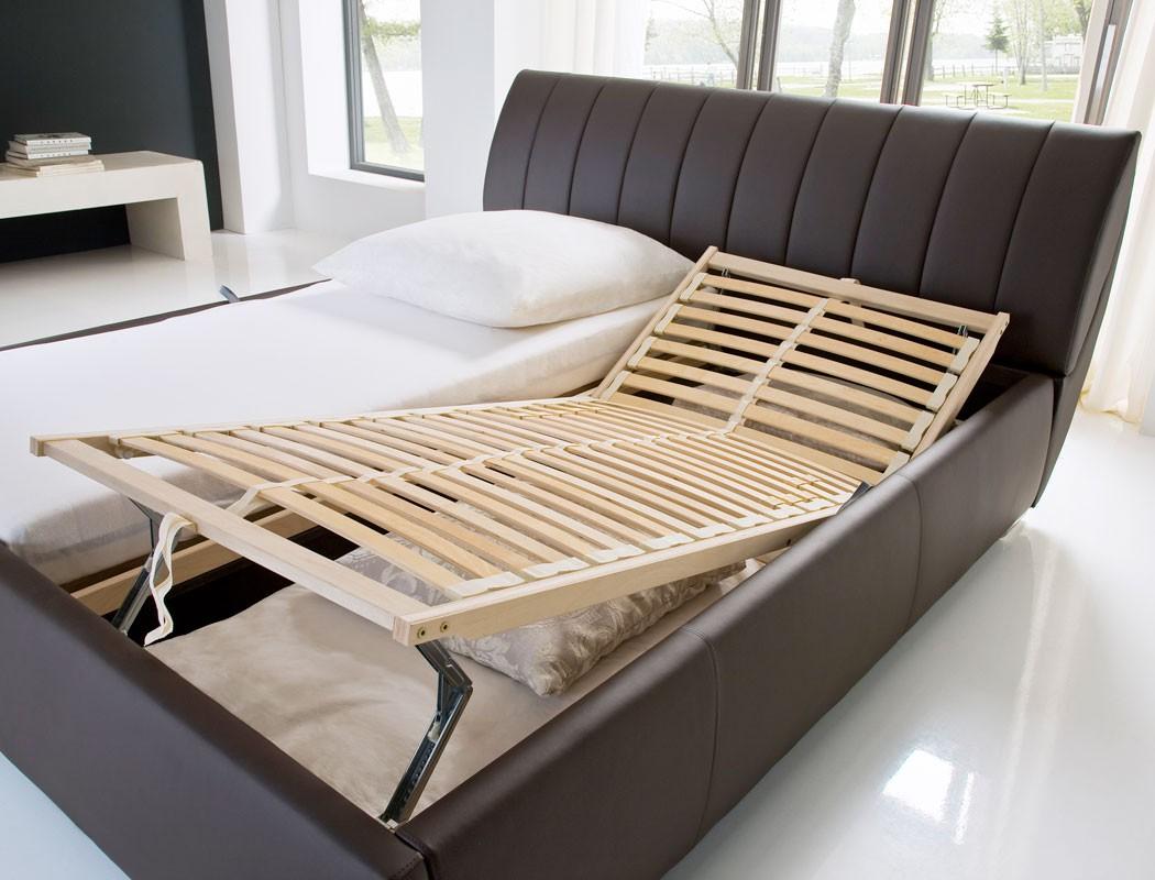 Full Size of Klappbares Doppelbett Polsterbett Luanos 180x200 Braun Kunstleder Rost Klappbar Ausklappbares Bett Wohnzimmer Klappbares Doppelbett