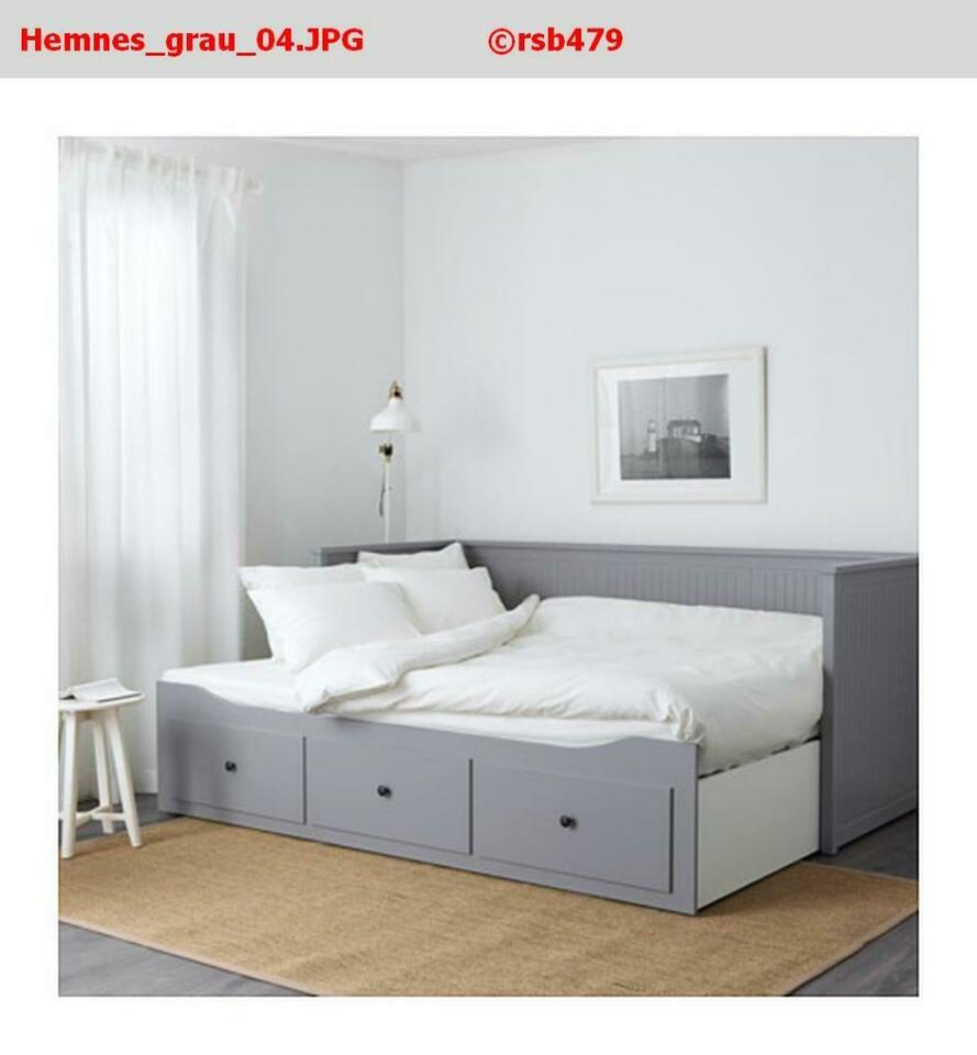 Full Size of Bett Grau Tagesbett Graubraun 160 Lasiert Kaufen Ikea 90x200 180x200 Tagesbettgestell Gebraucht 160x200 Betten Düsseldorf 140x220 120 Weißes Kopfteil 140 Wohnzimmer Hemnes Bett Grau