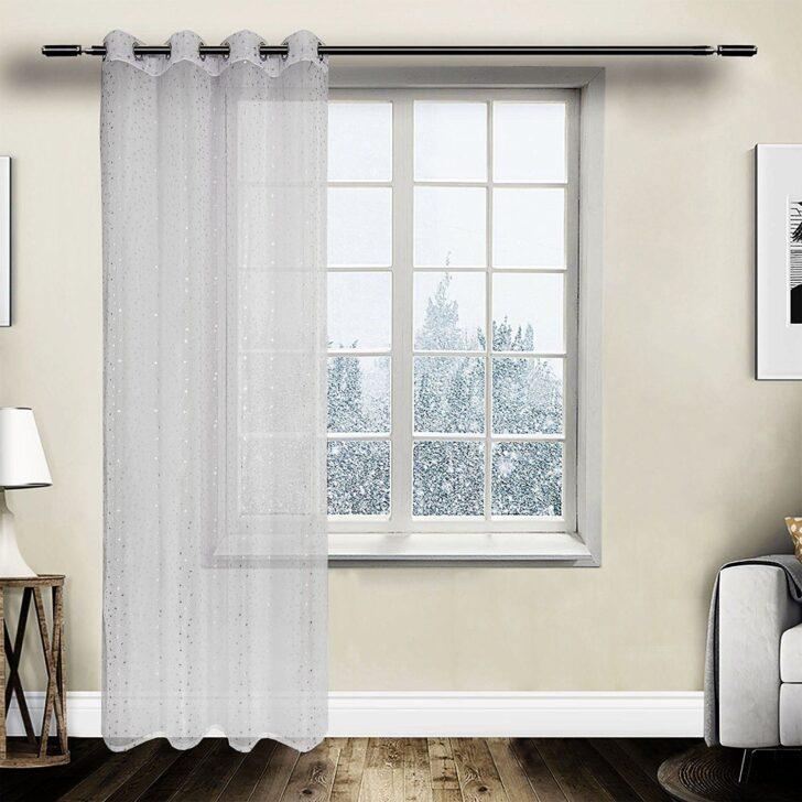 Medium Size of Gardine Vorhang Transparent Sen Mit Muster Weiss Wei 140x245 Cm Scheibengardinen Küche Wohnzimmer Scheibengardinen Blickdicht