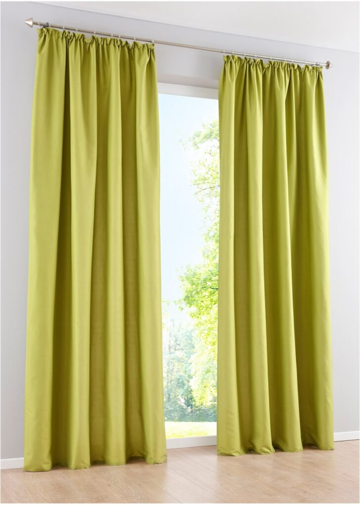 Medium Size of Vorhang Mit Weichem Mikrofaser Touch Grn Vorhänge Wohnzimmer Bonprix Betten Schlafzimmer Küche Wohnzimmer Bon Prix Vorhänge