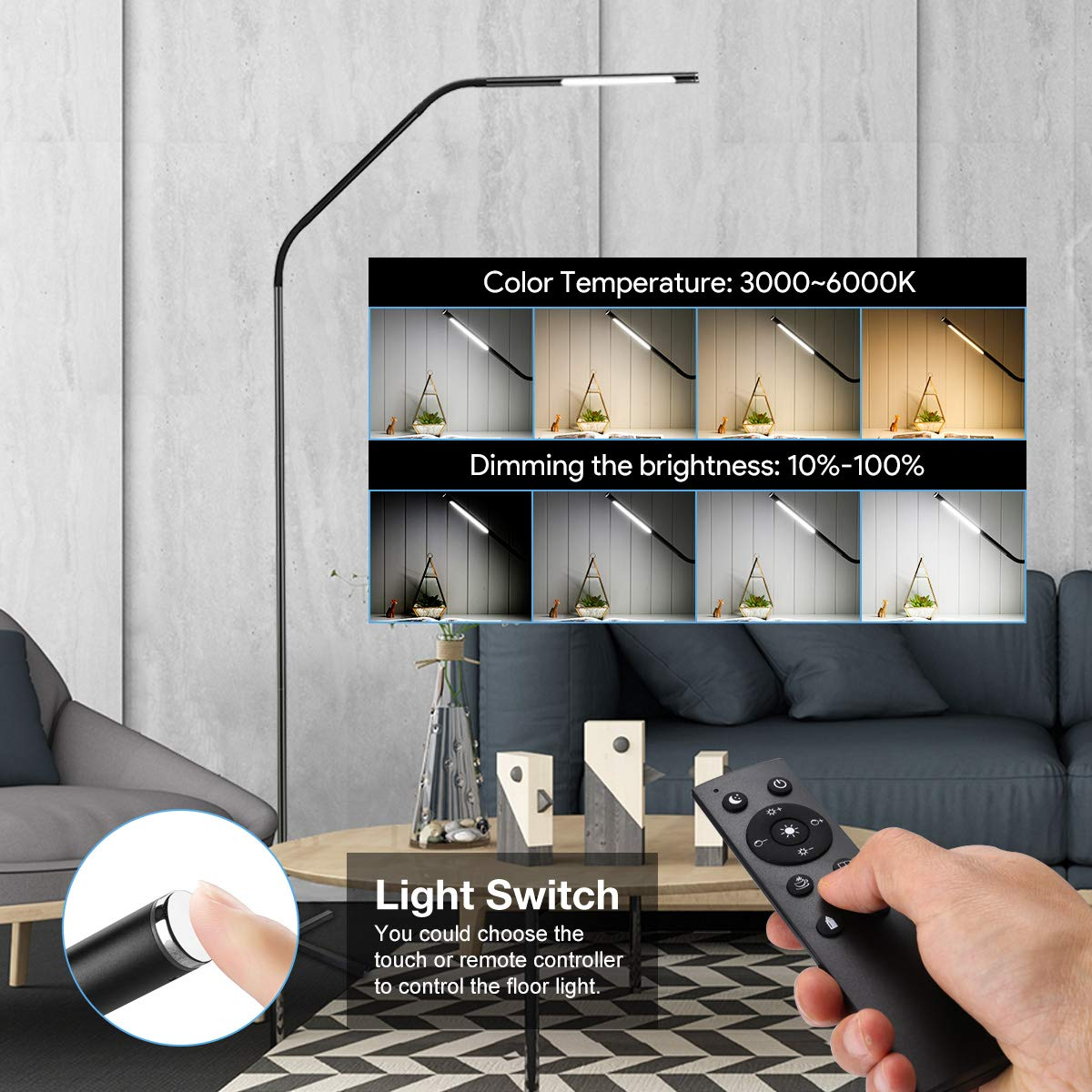 Full Size of Stehlampe Wohnzimmer Dimmbar Led Holz Le 6w Stufenlos Metall Stehleuchte Faltbare Stehlampen Indirekte Beleuchtung Deckenlampen Modern Teppich Deckenleuchten Wohnzimmer Stehlampe Wohnzimmer Dimmbar