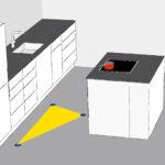 Kochinsel Steckdose Richtige Aufteilung Einer Kche Kchendurst Küche Mit Spiegelschrank Bad Beleuchtung Und L Wohnzimmer Kochinsel Steckdose
