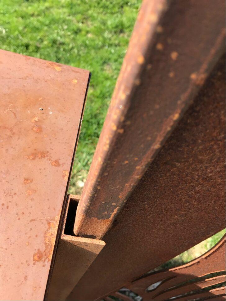 Medium Size of Wie Werden Edelrost Sichtschutz Paravents Aus Metall Befestigt Sichtschutzfolie Fenster Einseitig Durchsichtig Garten Wpc Im Regal Weiß Bett Mit Lattenrost Wohnzimmer Sichtschutz Metall Rost