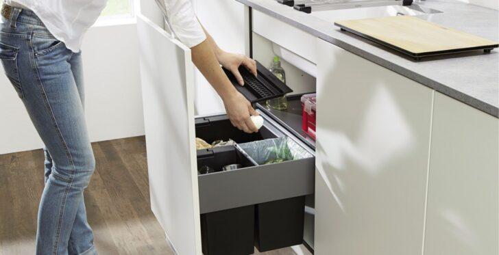 Abfalleimer Zur Mlltrennung In Der Kche Blanco Müllsystem Küche Wohnzimmer Müllsystem