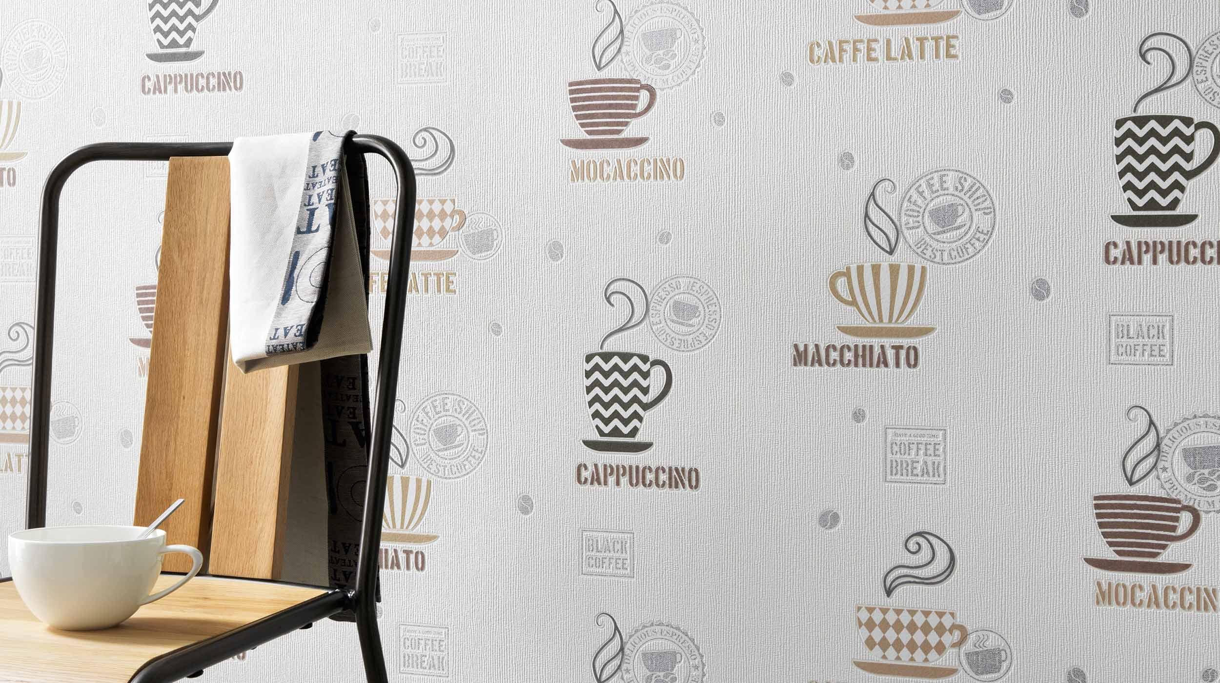 Full Size of Led Panel Küche Glaswand Wandpaneel Glas Einzelschränke Holz Weiß Pantryküche Mit Kühlschrank Servierwagen Wandfliesen Tapeten Für Was Kostet Eine Wohnzimmer Tapete Küche Kaffee