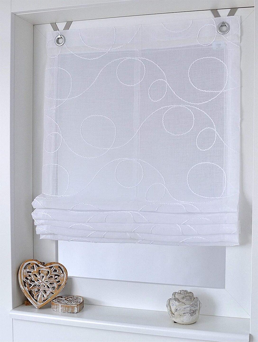 Large Size of Amazonde Raffrollo Senrollo Jasmin Stick Weiss 100 130 Cm Küche Wohnzimmer Raffrollo Küchenfenster