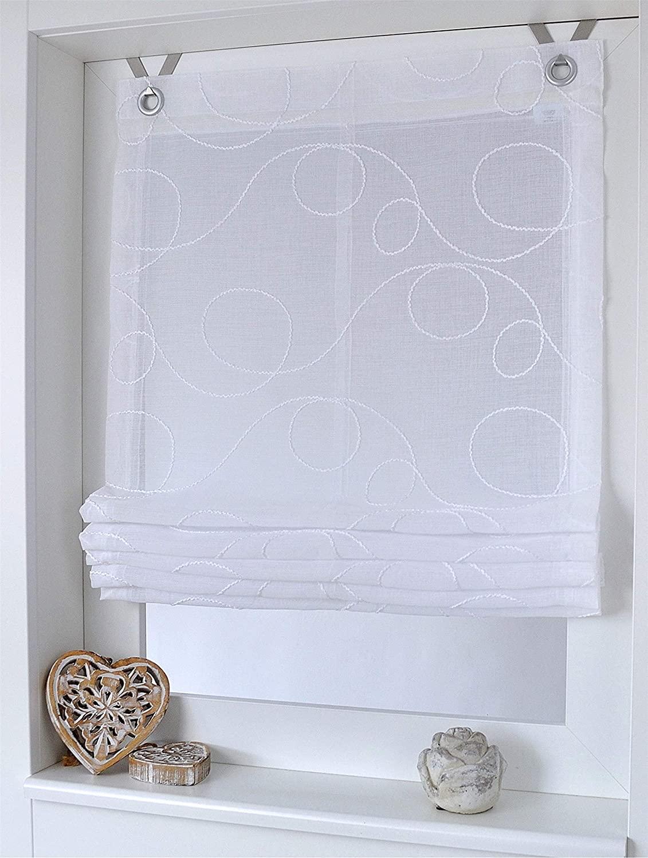Full Size of Amazonde Raffrollo Senrollo Jasmin Stick Weiss 100 130 Cm Küche Wohnzimmer Raffrollo Küchenfenster