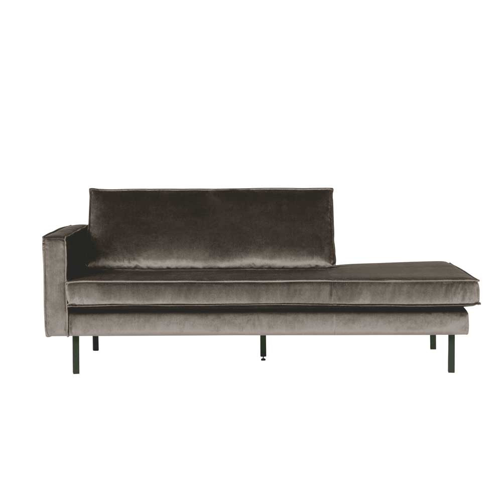 Full Size of Samt Recamiere Majero In Taupe Pharao24de Sofa Mit Wohnzimmer Recamiere Samt