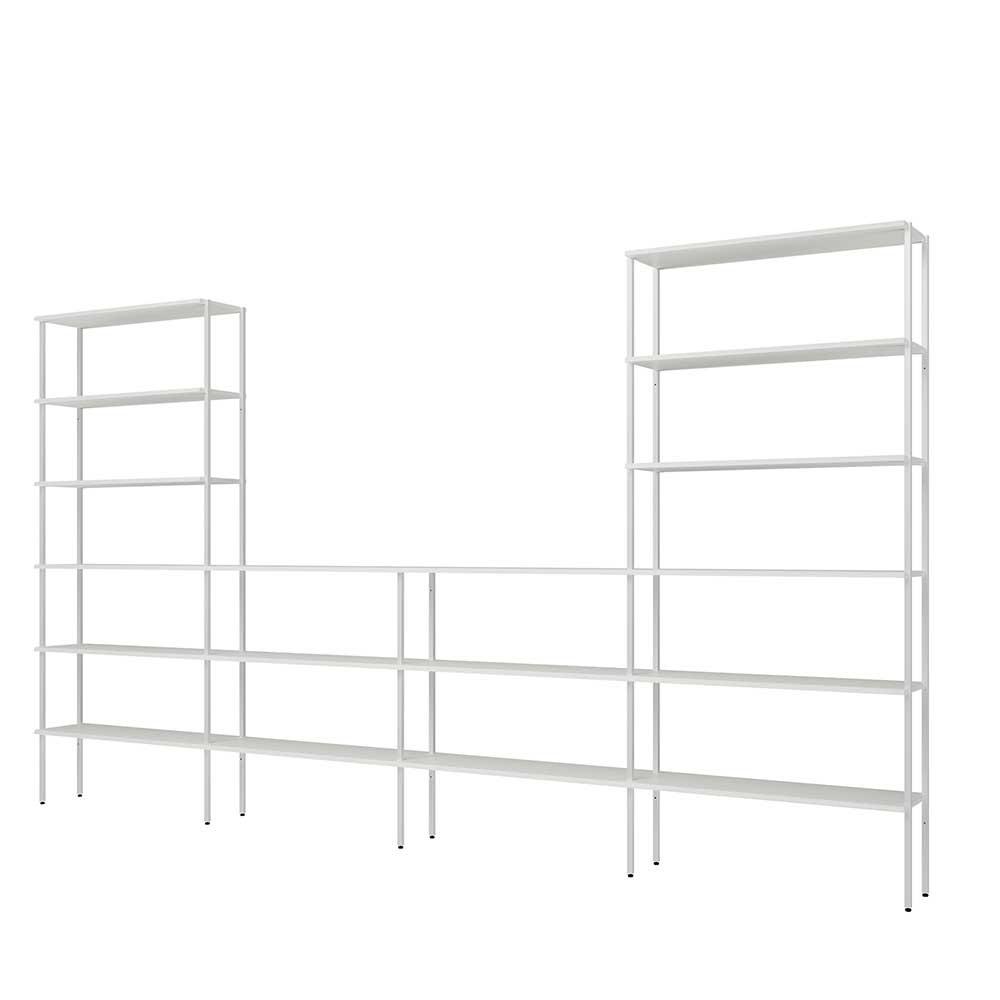 Full Size of Metall Regal System In Wei 392 Cm Breit 220 Hoch Leyma Weiß Bett Regale Wohnzimmer Regalwürfel Metall