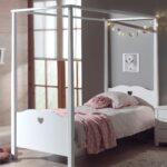 Mädchenbetten Himmelbett Amori Mdchenbett Mit Herzen Liegeflche 90 200 Cm Wohnzimmer Mädchenbetten