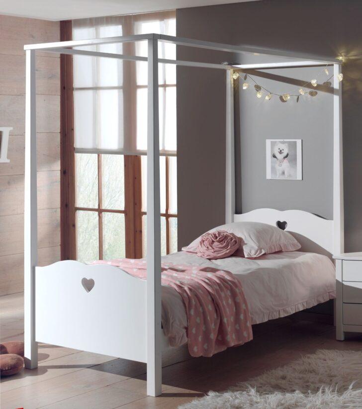 Medium Size of Mädchenbetten Himmelbett Amori Mdchenbett Mit Herzen Liegeflche 90 200 Cm Wohnzimmer Mädchenbetten